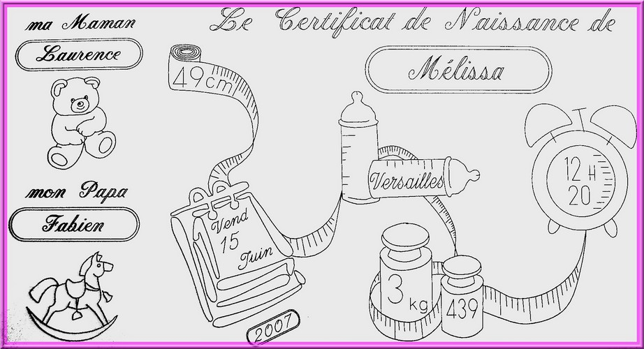 le certificat de naissance en argent. Black Bedroom Furniture Sets. Home Design Ideas